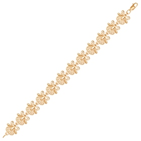 Flower gilding bracelet, size 18.
