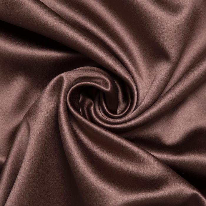 Штора портьерная «Этель» 145×265 см, двусторонний блэкаут, цвет Шоколад, пл. 240 г/м², 100% п/э