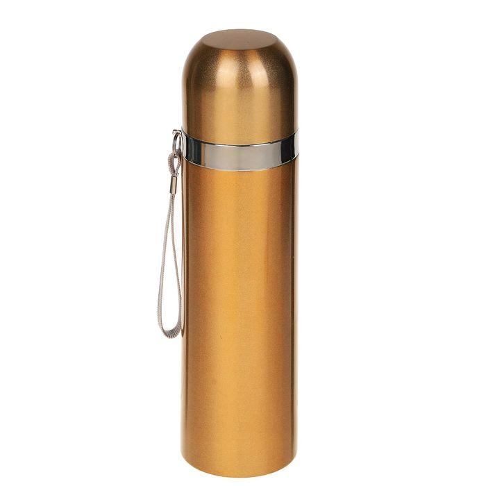 Термос гильза, 500 мл, 1 кружка, коричневый