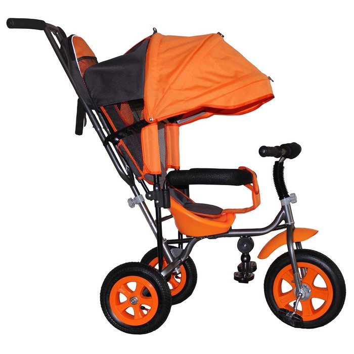 """Велосипед трёхколёсный Лучик Малют 1, надувные колёса 10""""/8"""", цвет оранжевый"""