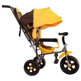 """Велосипед трехколесный Лучик Малют 2, колеса EVA  10""""/8"""", цвет коричнево-желтый"""
