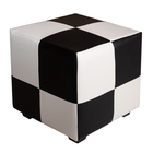 Pouf square Mario 400х400х380 Black and white