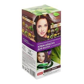 Стойкая натуральная крем-краска для волос «Народные рецепты» тон Мокко, 120 мл