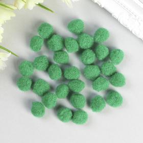 Помпоны для творчества, зеленые, 15 мм, (набор 30 шт)