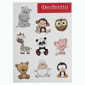 """Наклейки Decoretto """"Милые животные"""""""