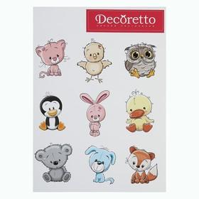 """Наклейки Decoretto """"Добрые животные"""""""