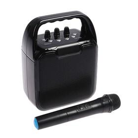 Портативная караоке система Atom KS-1100, 10 Вт, FM, AUX, microSD, USB, BT, Li-Ion, 2400 мАч