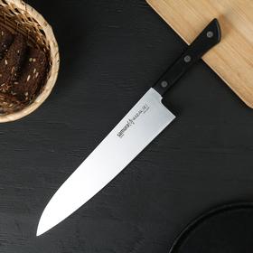 Нож Samura HARAKIRI гранд шеф, лезвие 24 см, чёрная рукоять, сталь AUS-8