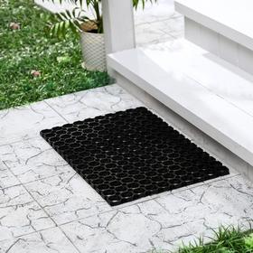 Коврик ячеистый грязесборный 100×150×1,6 см, цвет чёрный