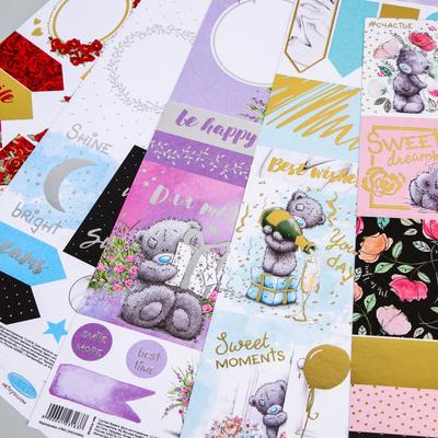 Paper for scrapbooking with foiling, Me To You, MIX, 30, 5x32 cm