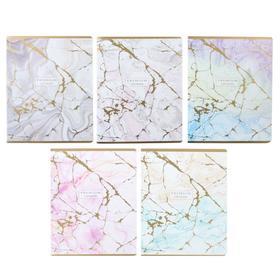 Тетрадь 96 листов клетка «Нежные лилии», обложка мелованная бумага, золото, МИКС
