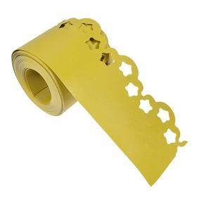 Лента бордюрная, 0.15 × 9 м, толщина 1.2 мм, пластиковая, фигурная, жёлтая