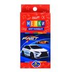 Мелки восковые 6 цветов «Спортивное авто», картонная коробка с подвесом