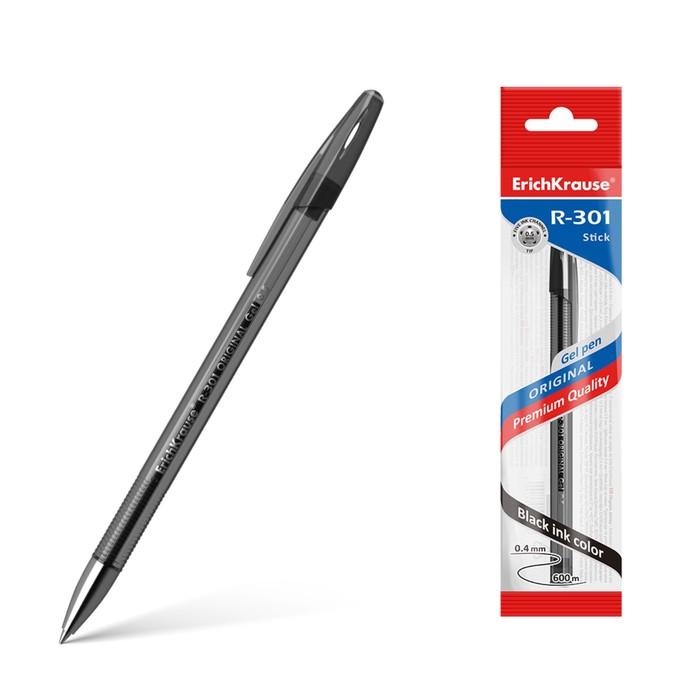 Ручка гелевая R-301 Original Gel, узел 0.5 мм, чернила чёрные, длина линии письма 600 метров, 1 штука - фото 4454799