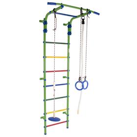 Детский спортивный комплекс Start 2, цвет салатовый/радуга