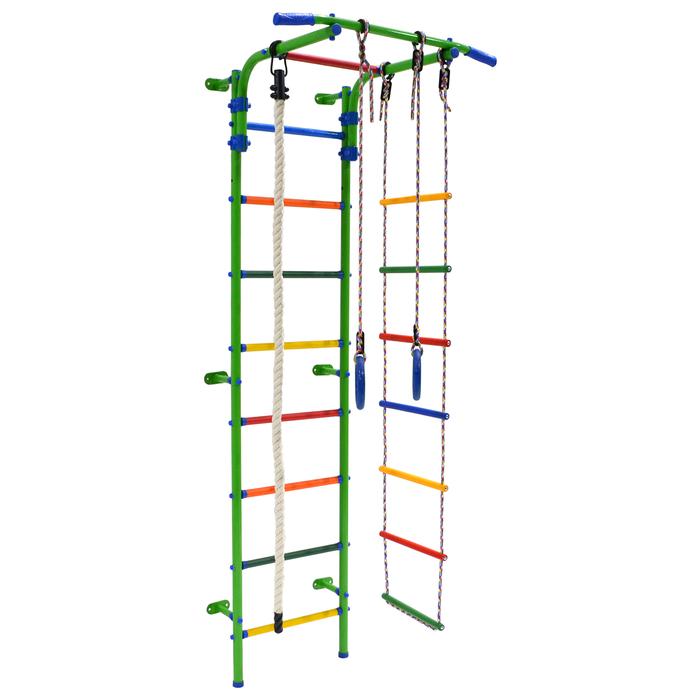 Детский спортивный комплекс Start 3, 700 × 470 × 2050 мм, цвет салатовый/радуга