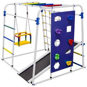 Детский спортивный комплекс Start baby 2, 1200 × 1330 × 1230 мм, цвет белый/радуга