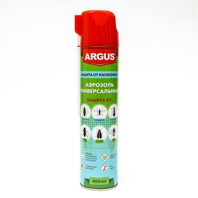 Аэрозоль от всех видов насекомых Argus MAX , дихлофос, без запаха, 600 мл