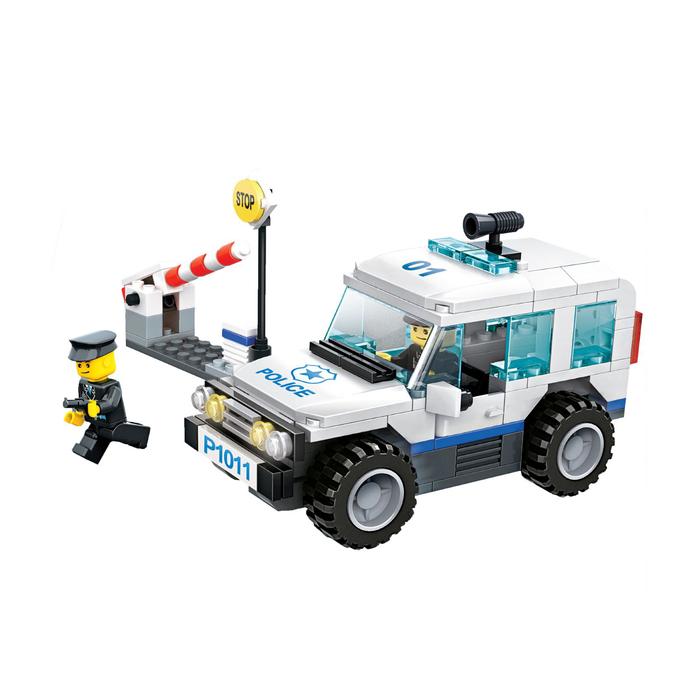Конструктор «Полицейский джип», 3 варианта сборки, 217 деталей, в пакете