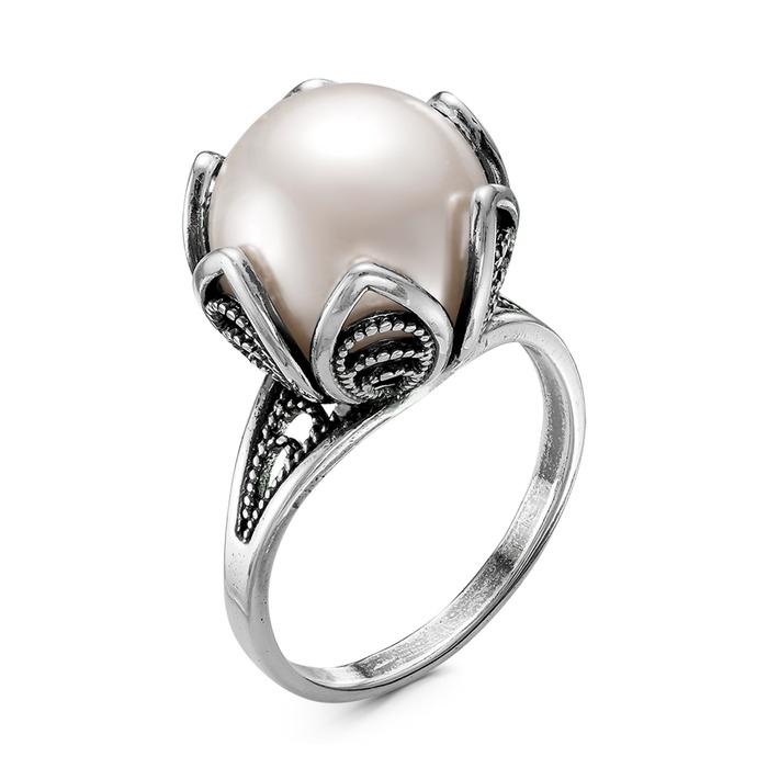 Кольцо ''Жемчуг'', посеребрение, 17,5 размер 4354333