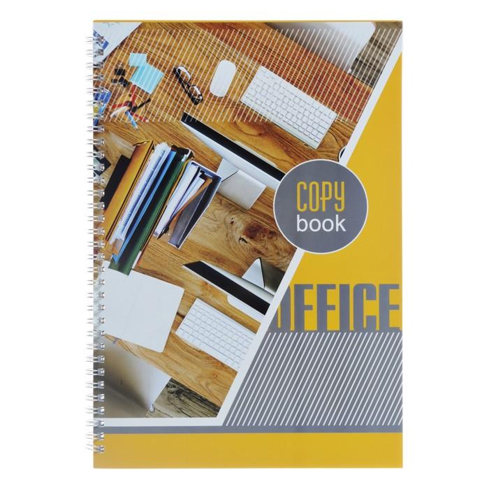 Тетрадь А4, 80 листов клетка на гребне «Яркий акцент», обложка мелованный картон, матовая ламинация - фото 373640764
