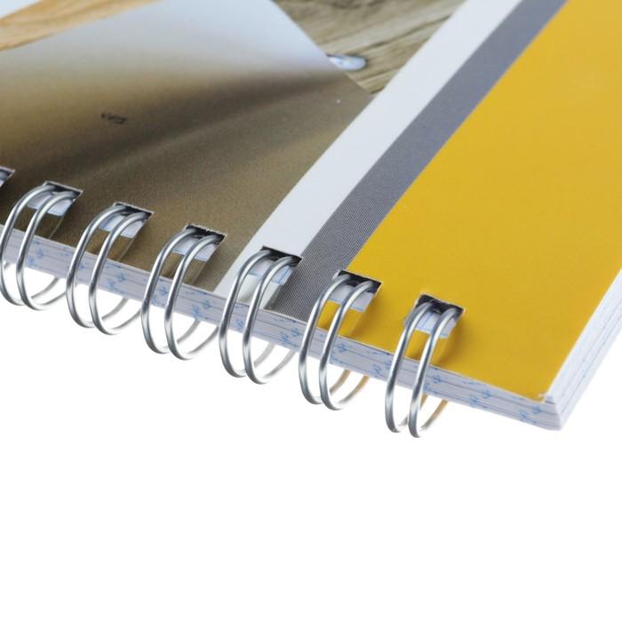 Тетрадь А4, 80 листов клетка на гребне «Яркий акцент», обложка мелованный картон, матовая ламинация - фото 373640765