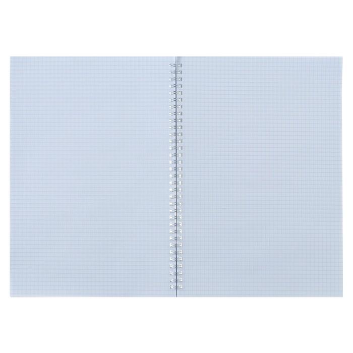 Тетрадь А4, 80 листов клетка на гребне «Яркий акцент», обложка мелованный картон, матовая ламинация - фото 373640766