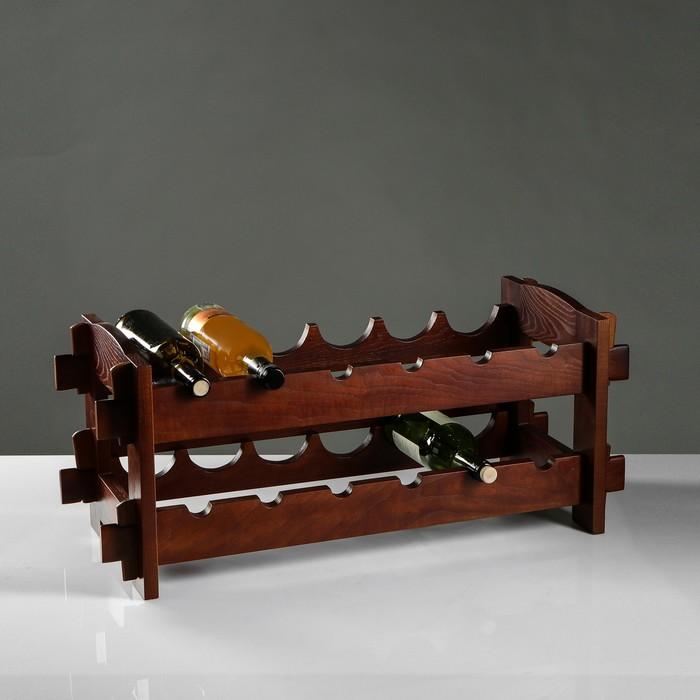 Стеллаж винный из массива ясеня, 70х30х30 см
