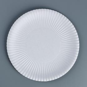 Тарелка одноразовая 'Белая' 23 см Ош