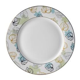 Тарелка десертная, 19 см, костяной фарфор