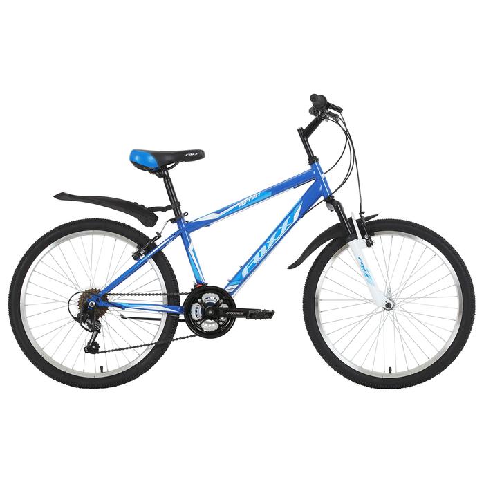 """Велосипед 24"""" Foxx Aztec, 2019, цвет синий/белый, размер 14"""""""