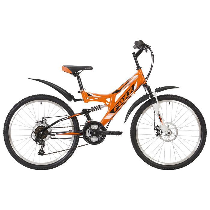 """Велосипед 24"""" Foxx Freelander D, 2019, цвет оранжевый/белый, размер 14"""""""