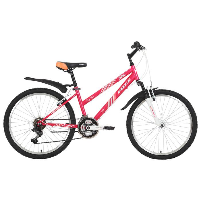 """Велосипед 24"""" Foxx Salsa, 2019, цвет розовый/белый, размер 14"""""""