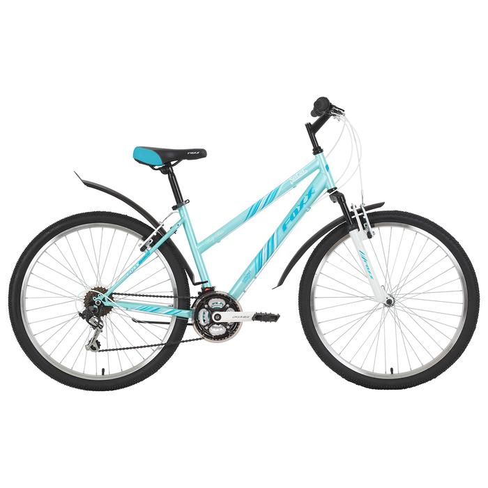"""Велосипед 26"""" Foxx Salsa, 2019, цвет аквамарин, размер 15"""""""