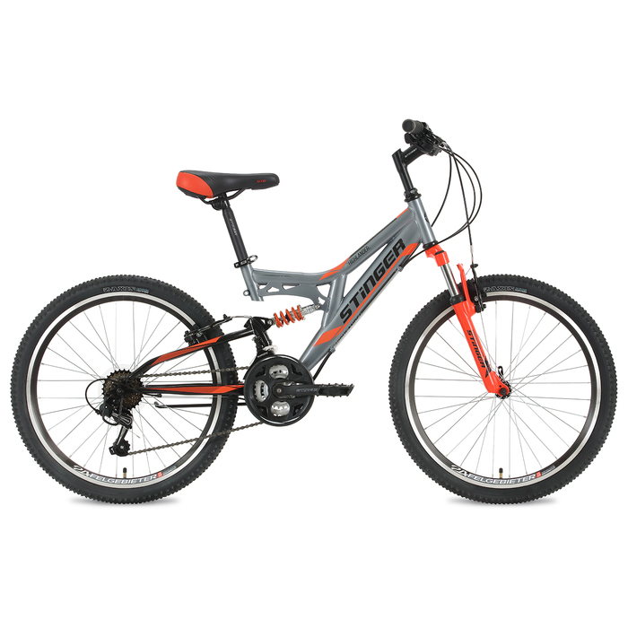 """Велосипед 24"""" Stinger Highlander, 2019, цвет серый, размер 14"""""""