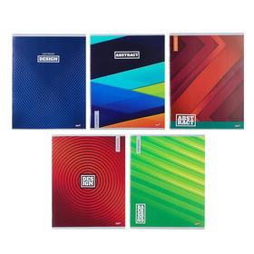 Тетрадь 96 листов клетка «Микс-81», обложка мелованный картон, второй блок, МИКС
