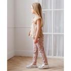 Брюки для девочки MINAKU, рост 122 см, цвет розовый - фото 105571702