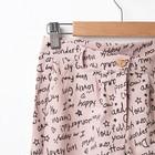 Брюки для девочки MINAKU, рост 122 см, цвет розовый - фото 105571708