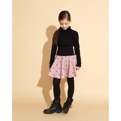 Юбка для девочки MINAKU, рост 146 см, цвет розовый/горох
