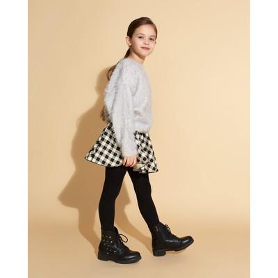 Юбка для девочки MINAKU, рост 146 см, цвет белый/чёрный
