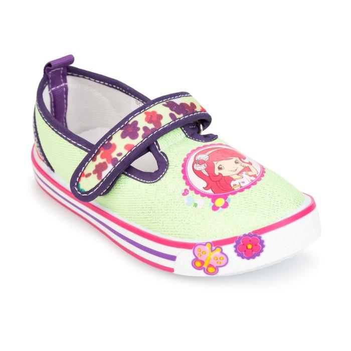 Туфли для девочки арт. SС-29017, цвет зеленый, размер 25