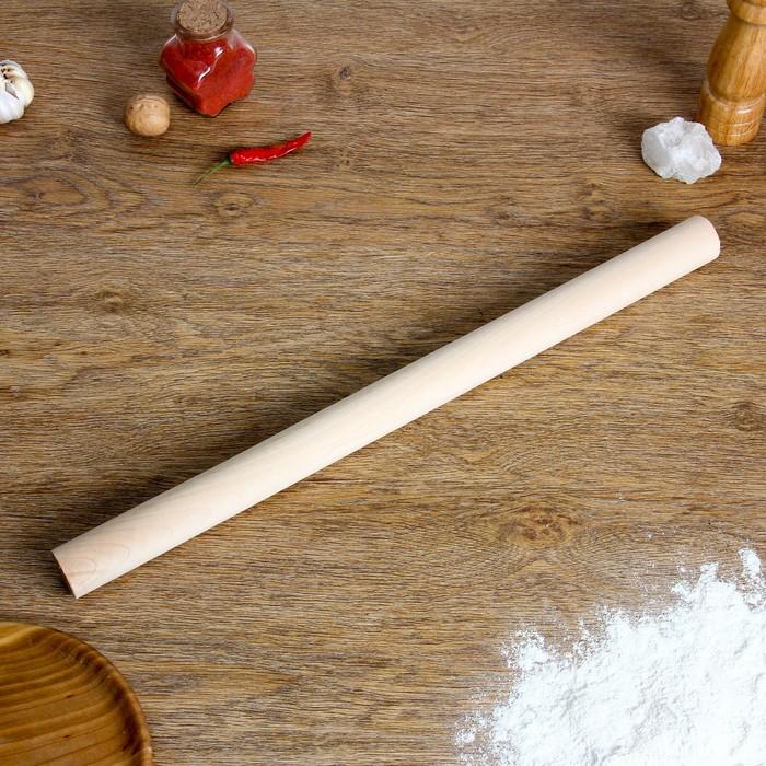 Скалка прямая, берёза, 50×3,5 см