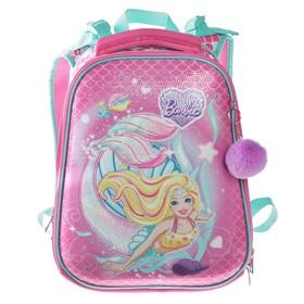 Рюкзак каркасный Hatber Ergonomic 37 х 29 х 17 см, для девочки, «Барби», розовый