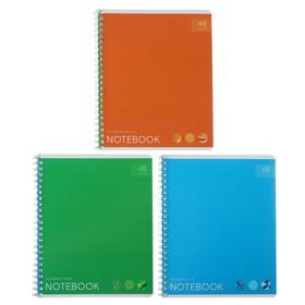Тетрадь 48 листов в линейку «Моноколор. Яркие акценты», обложка мелованный картон, УФ-лак, МИКС