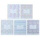 Тетрадь 12 листов клетка «Светлый узор», обложка мелованный картон, ВД-лак, МИКС