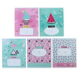 Тетрадь 12 листов в клетку «Стиль. Trendy art», обложка мелованный картон, ВД-лак, МИКС