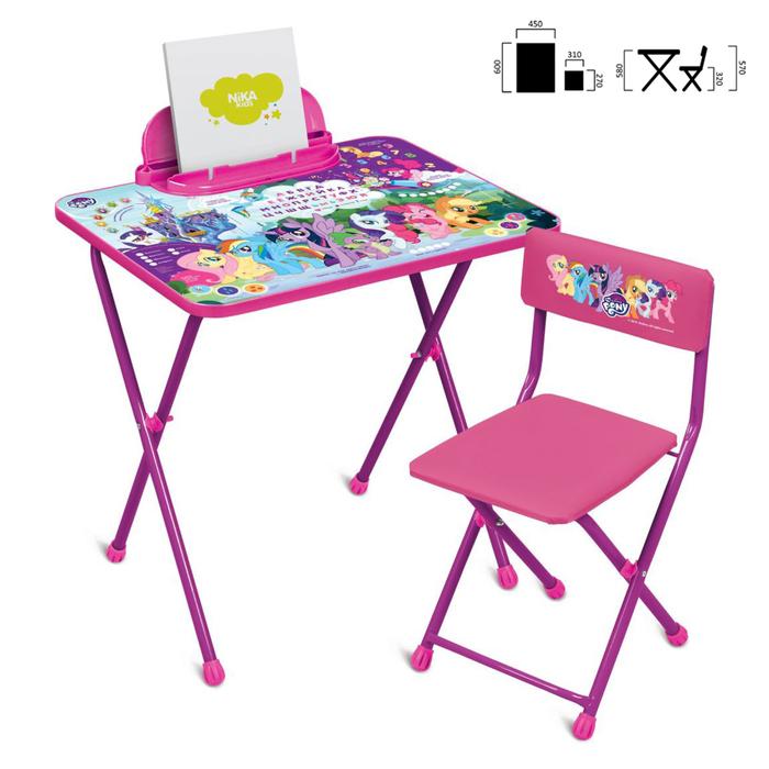Набор мебели My Little Pony стол, стул моющийся