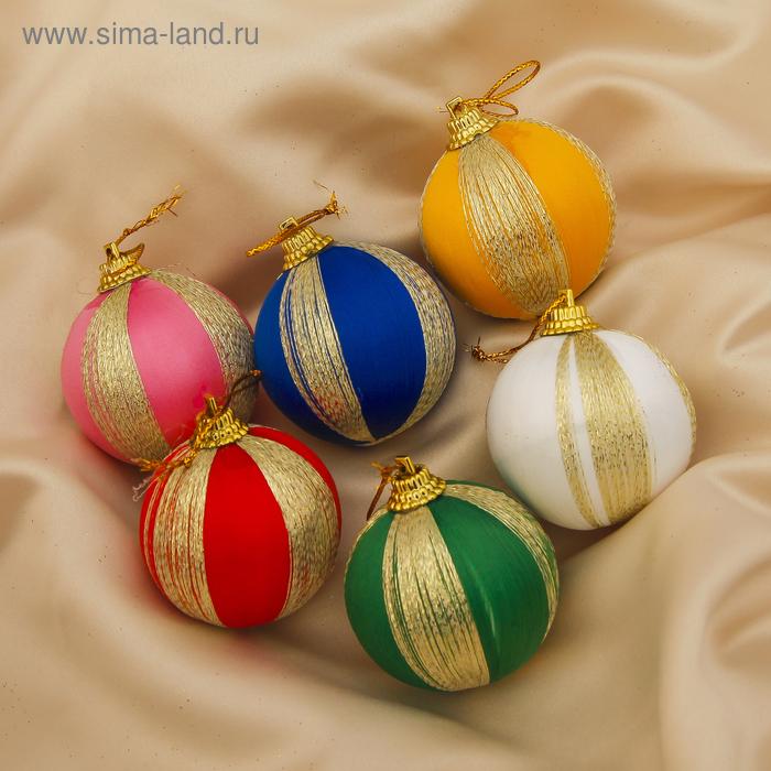 """Новогодние шары """"Широкая нить"""" (набор 6 шт.)"""