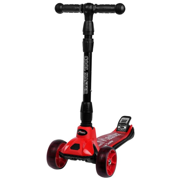 Самокат складной, алюминиевый, колёса световые PU d=11/4 см, ABEC 7, складной, до 65 кг