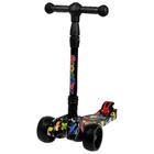Scooter folding, wheels light PU d=11/5 cm, ABEC 7, folding to 65 kg, color black